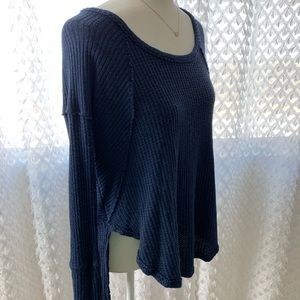 Free People Ventura Thermal Navy Size Small